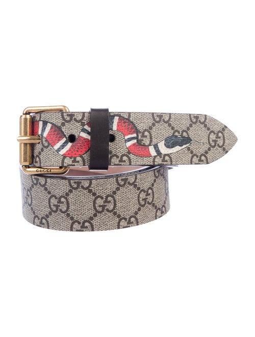 Gucci GG Supreme Kingsnake Belt Tan