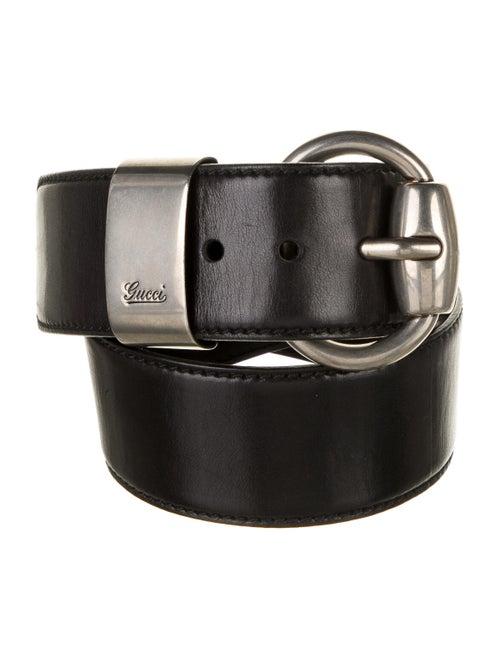 Gucci Wide Leather Belt Black