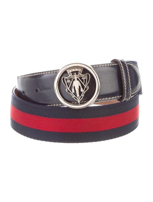 Gucci Web Buckle Belt navy