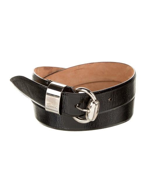 Gucci Patent Leather Hip Belt Black