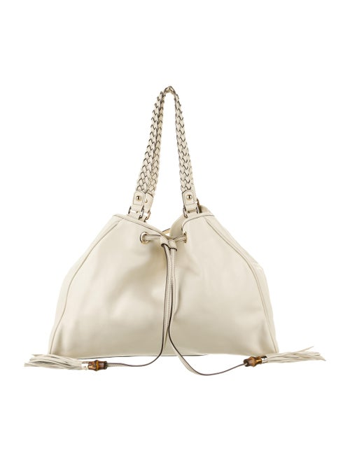 Gucci Leather Peggy Tote gold