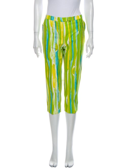 Gucci Printed Straight Leg Pants Green