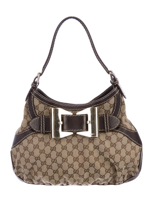 Gucci GG Canvas Queen Hobo Brown