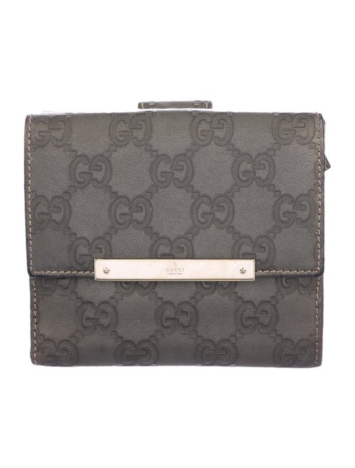 Gucci Signature French Purse Wallet Olive