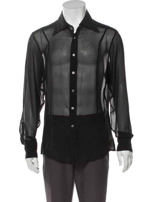 Gucci Vintage 1990's Dress Shirt Black