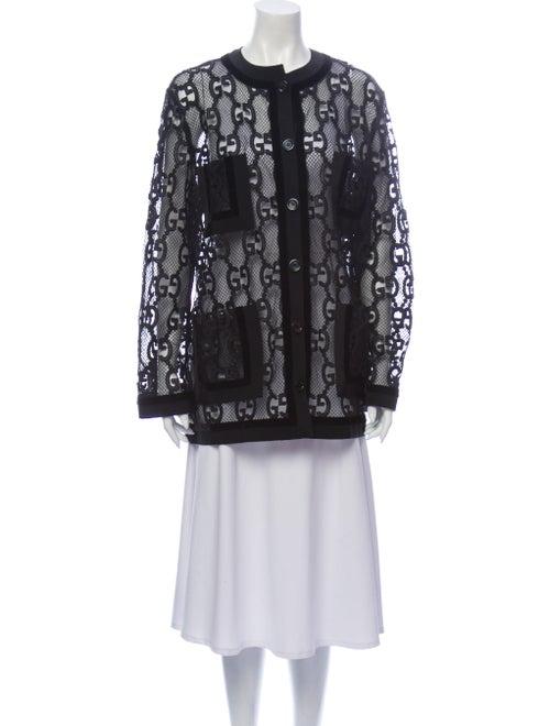 Gucci 2018 Lace Pattern Sweater Black