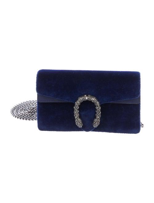 Gucci Super Mini Velvet Dionysus Bag silver