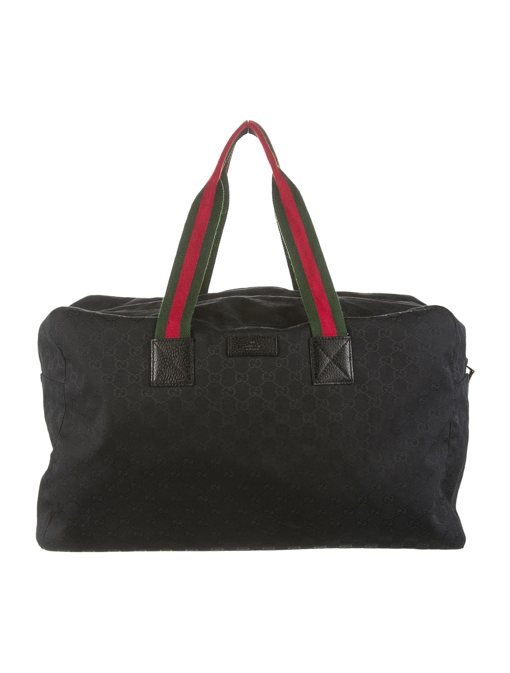gucci large gg duffle bag bags guc50182 the realreal