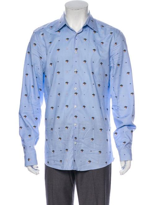 Gucci 2017 Ufo Dress Shirt Blue
