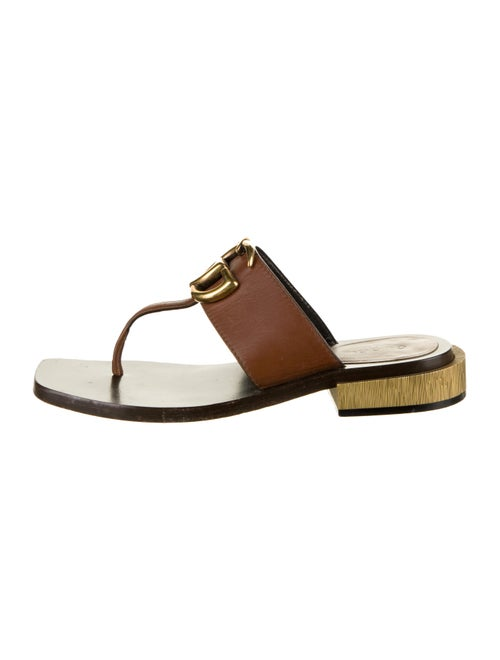 Gucci Marmont Thong Sandals Brown