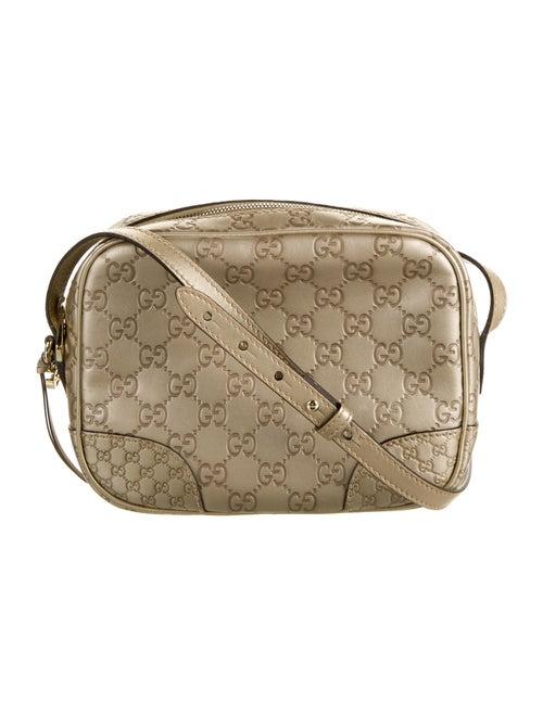 Gucci Bree Signature Crossbody Bag Metallic