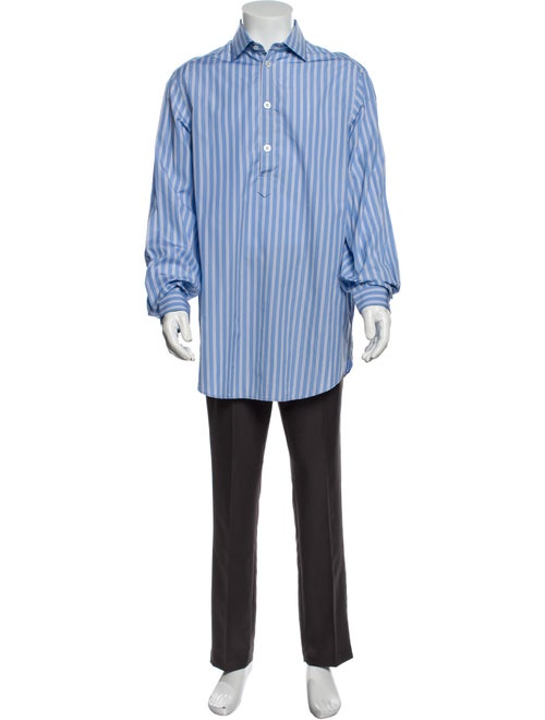 Gucci 2018 Striped Shirt w/ Tags Blue