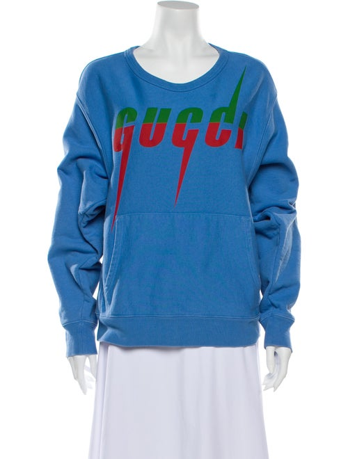 Gucci 2019 Graphic Print Sweatshirt Blue