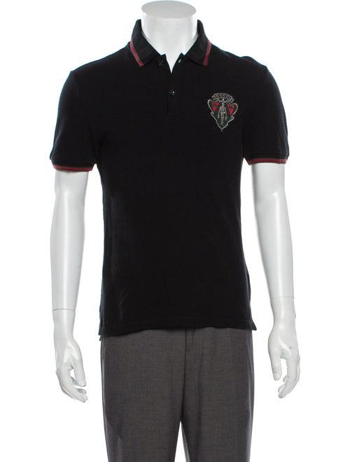 Gucci Crew Neck Short Sleeve Polo Shirt Black