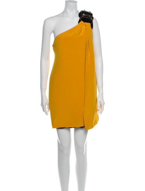 Gucci Silk Mini Dress Yellow