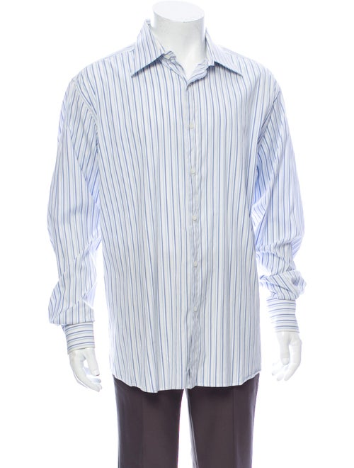 Gucci Striped Long Sleeve Shirt White