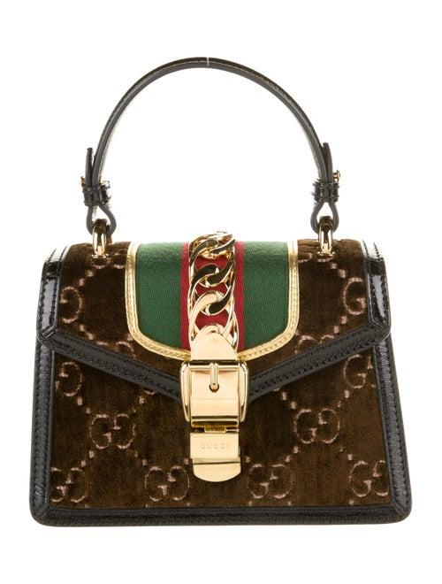 Gucci Sylvie GG Velvet Mini Bag Brown