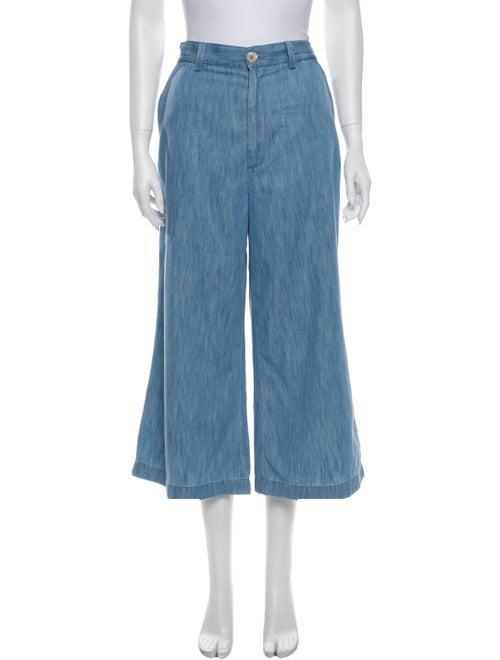 Gucci 2018 Wide Leg Pants Blue