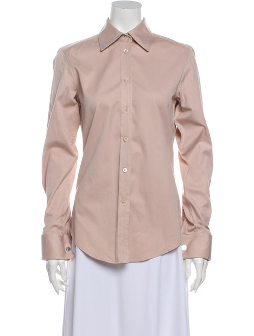 Gucci Long Sleeve Button-Up Top Pink