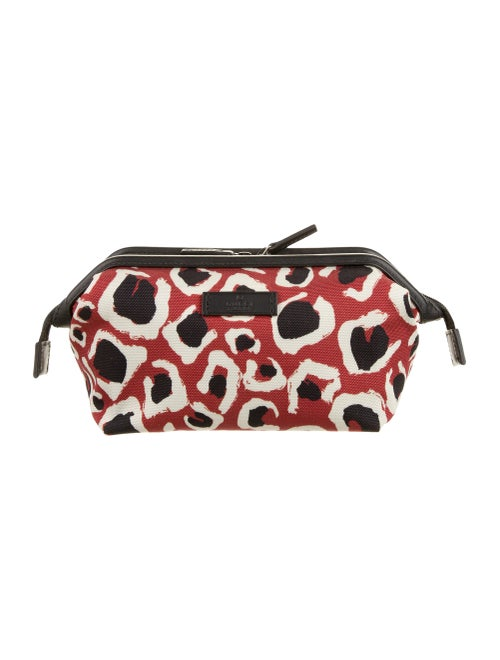 Gucci Leopard Print Cosmetic Bag Red