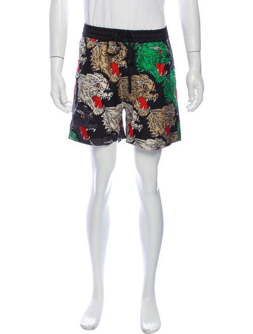 Gucci Silk Jogger Shorts Black