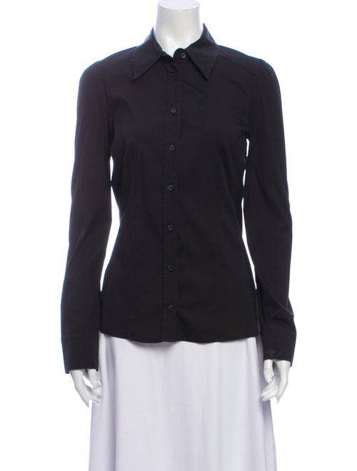 Gucci 2006 Long Sleeve Button-Up Top Black
