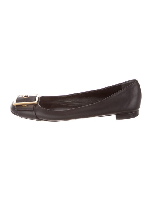Gucci Leather Ballet Flats Black