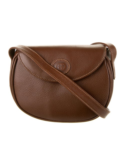 Gucci Vintage Leather Crossbody Bag Brown