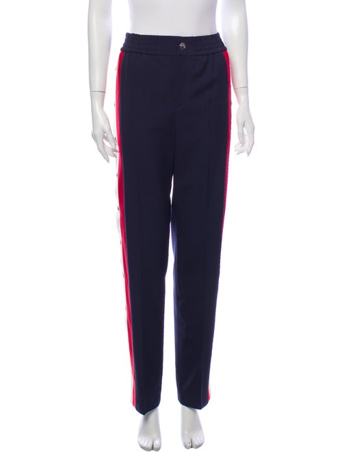 Gucci Wool Straight Leg Pants Wool