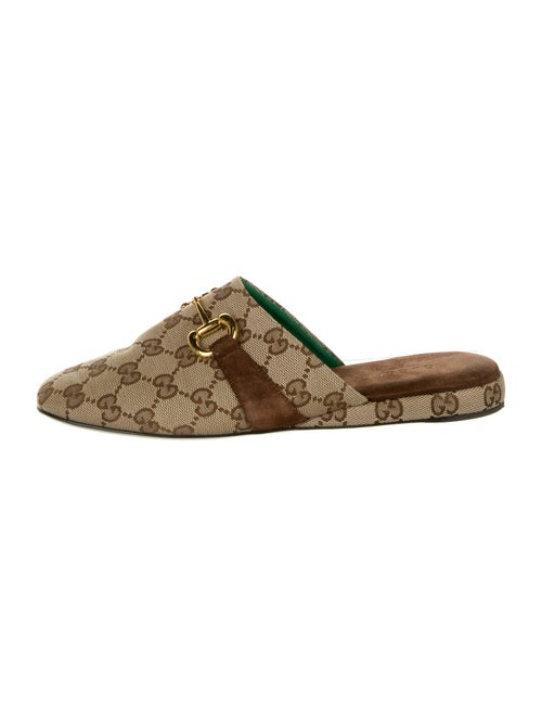 Gucci 2020 GG Canvas Mules Brown