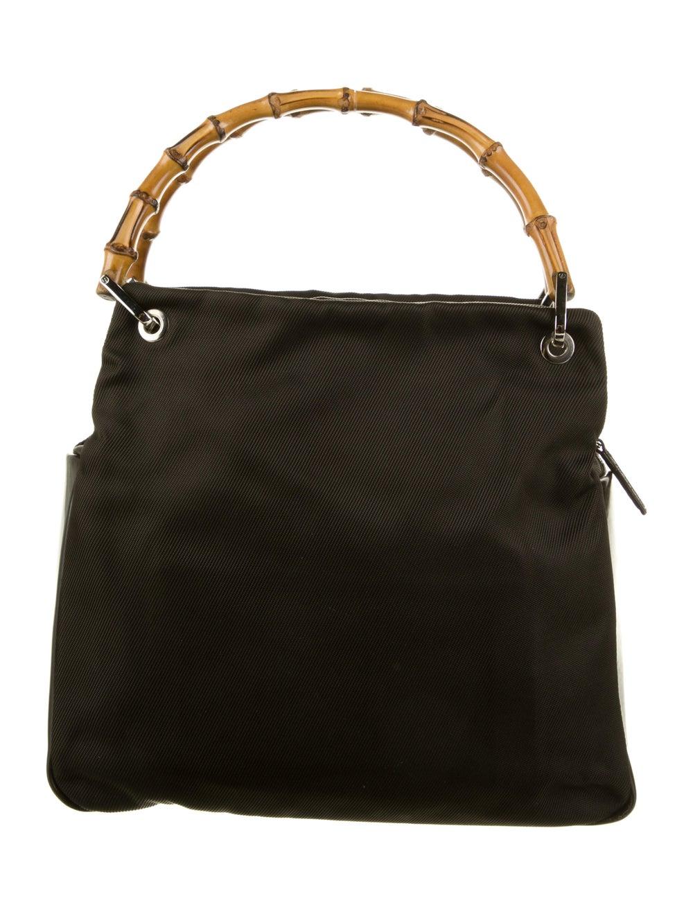 Gucci Vintage Nylon Bamboo Bag Brown - image 1