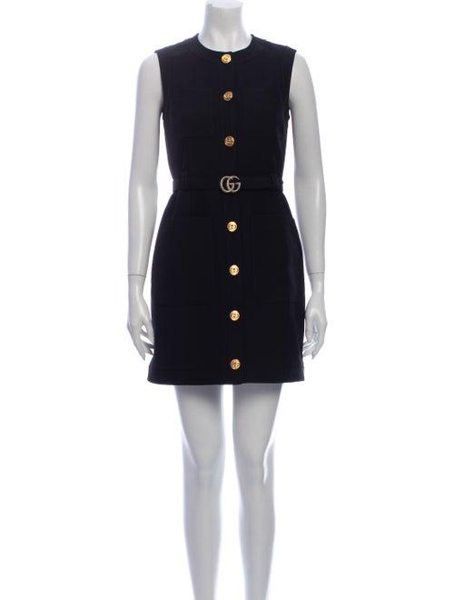 Gucci Silk Mini Dress Black - image 1