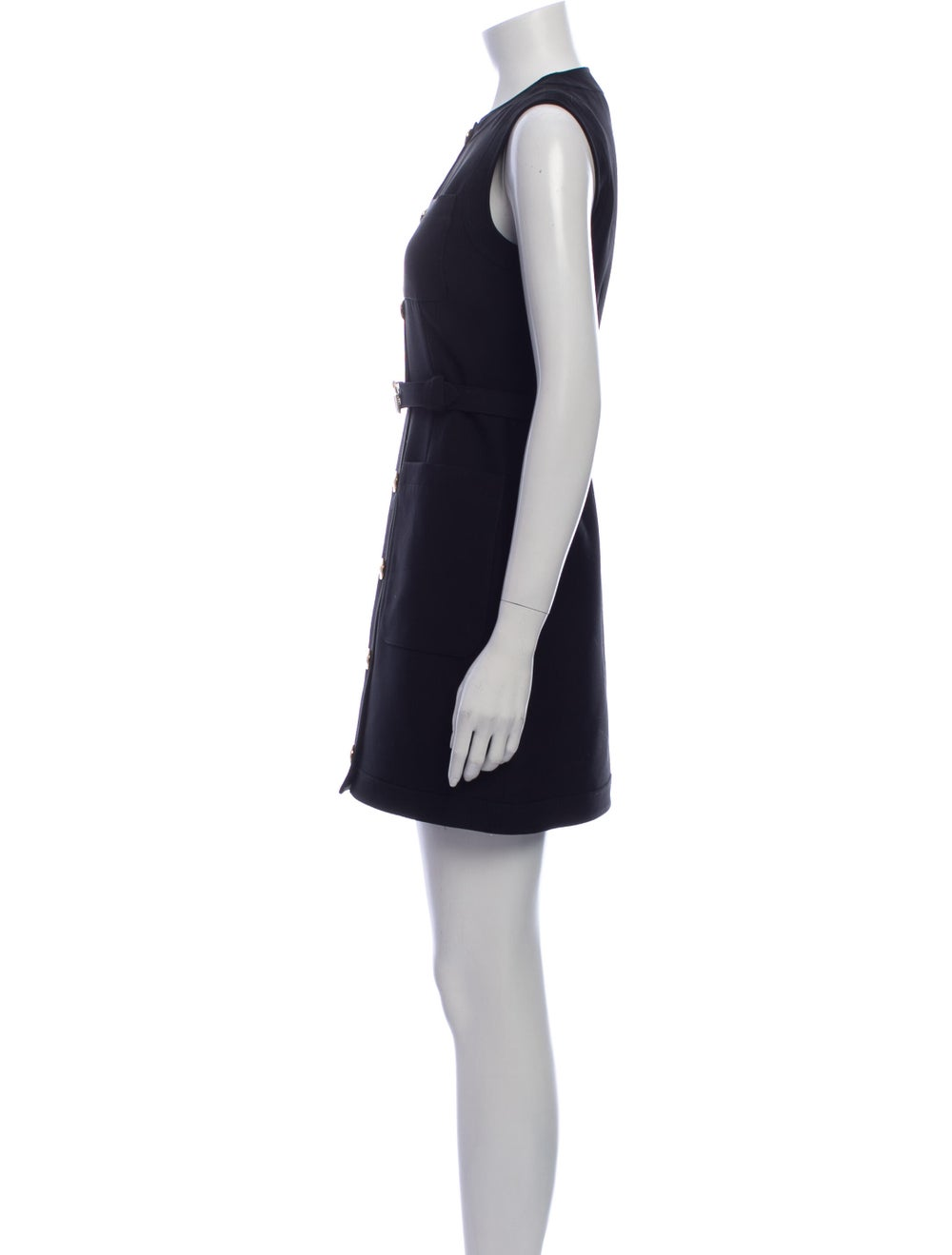 Gucci Silk Mini Dress Black - image 2