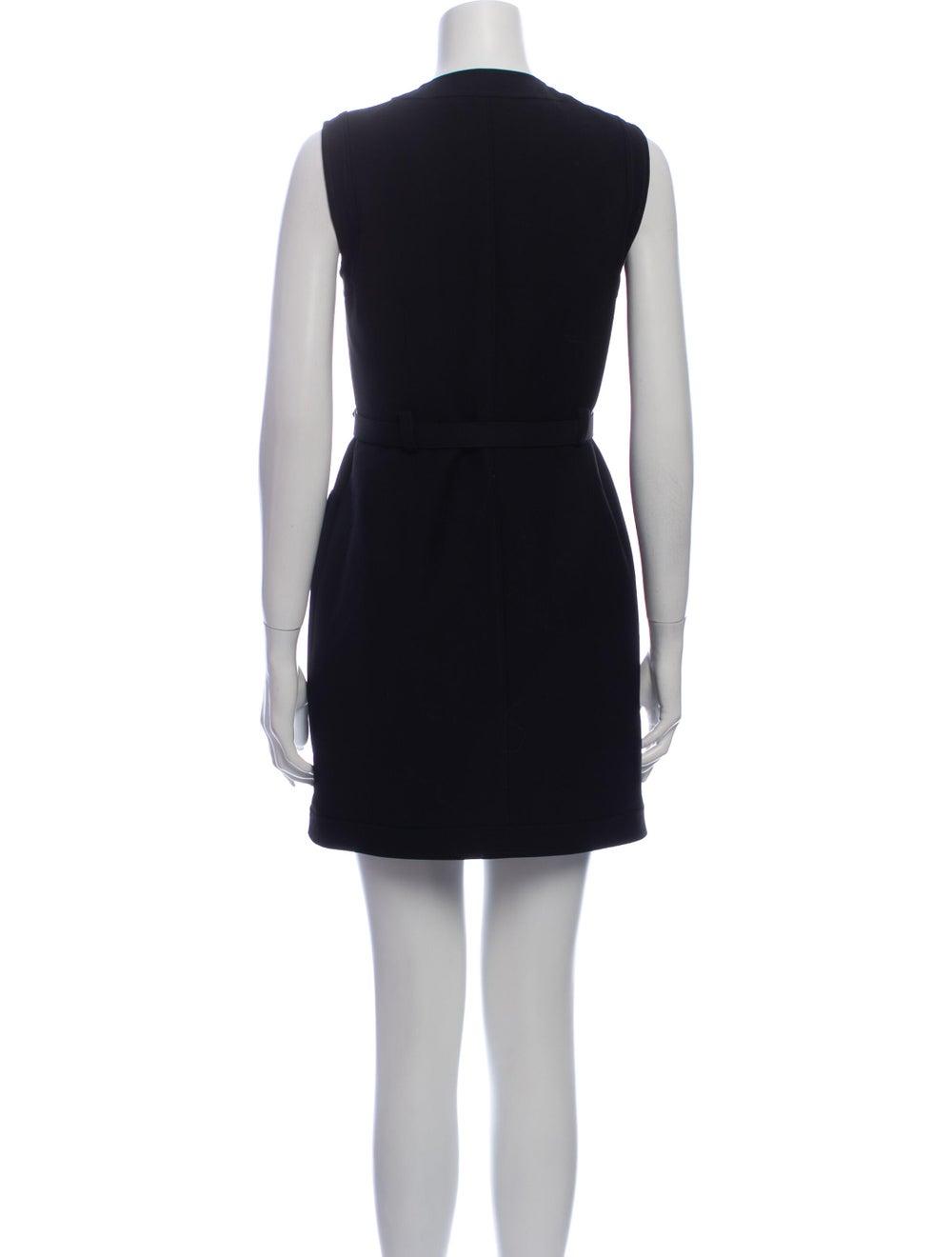 Gucci Silk Mini Dress Black - image 3