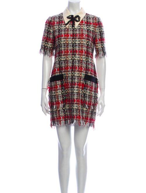 Gucci Plaid Print Mini Dress