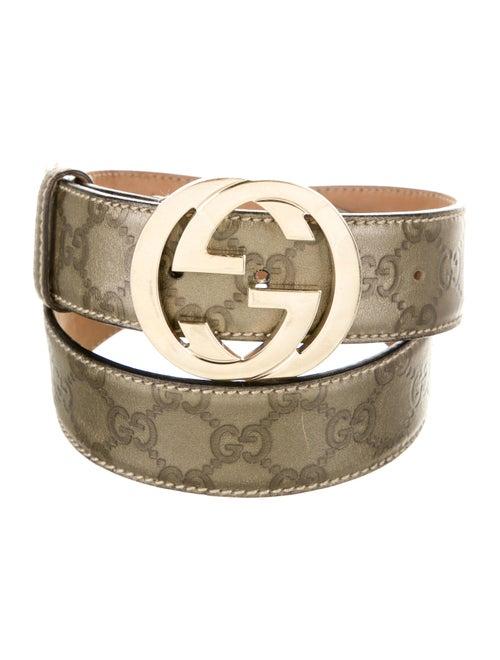 Gucci GG Signature Belt gold