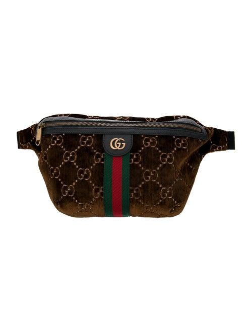 Gucci GG Velvet Web Belt Bag gold