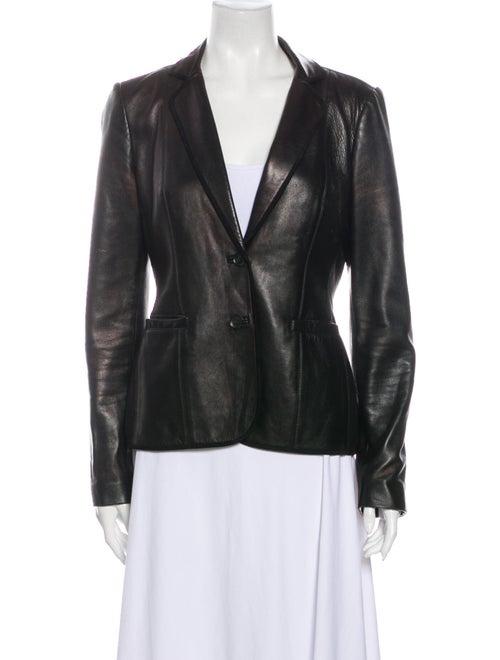 Gucci Vintage Leather Blazer Black