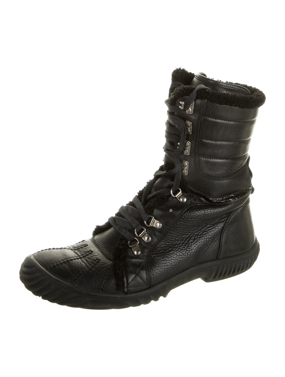 Gucci Leather Combat Boots Black - image 2