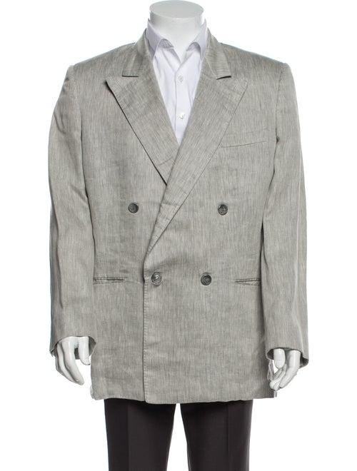 Gucci Vintage Linen Blazer Grey