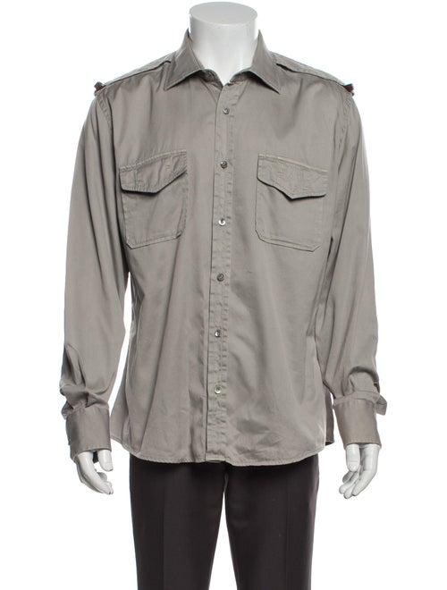 Gucci Web Accent Long Sleeve Shirt