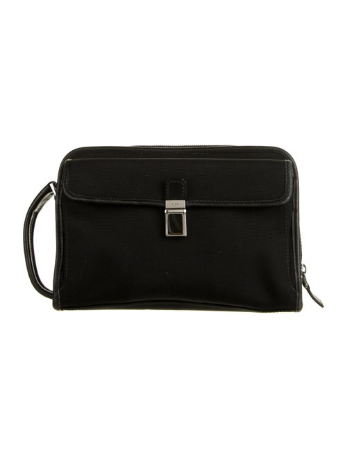 Gucci Nylon Wristlet Clutch Black