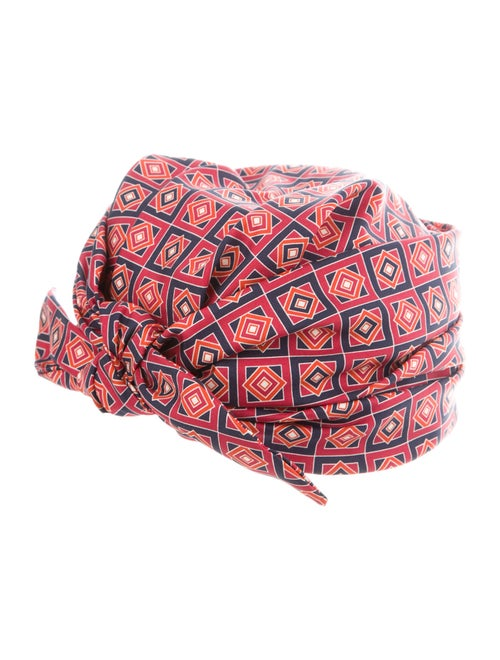 Gucci Printed Silk Turban Red - image 1