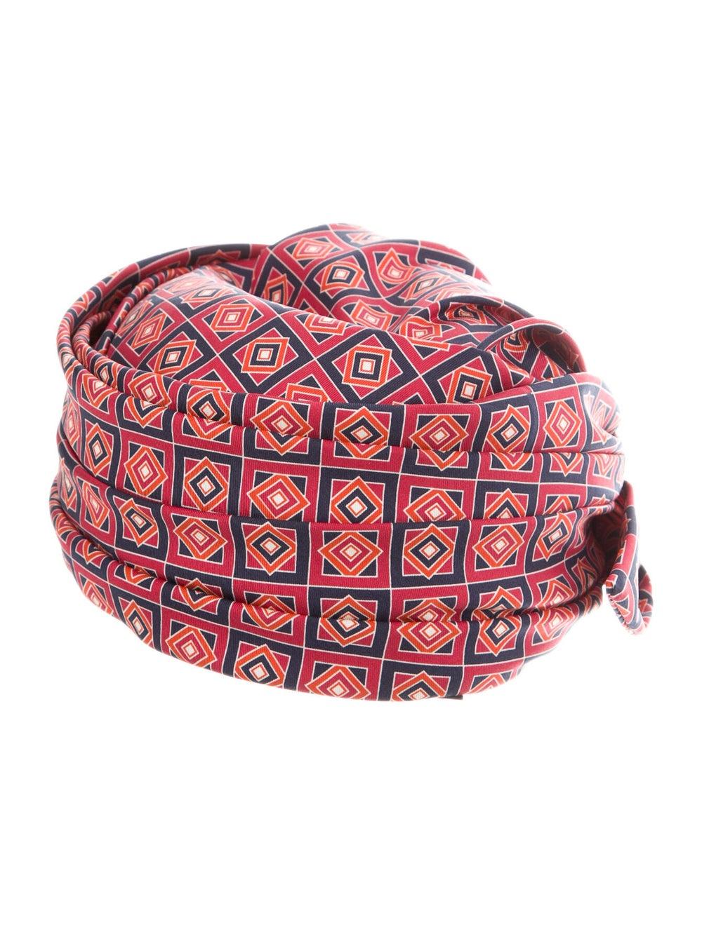 Gucci Printed Silk Turban Red - image 2