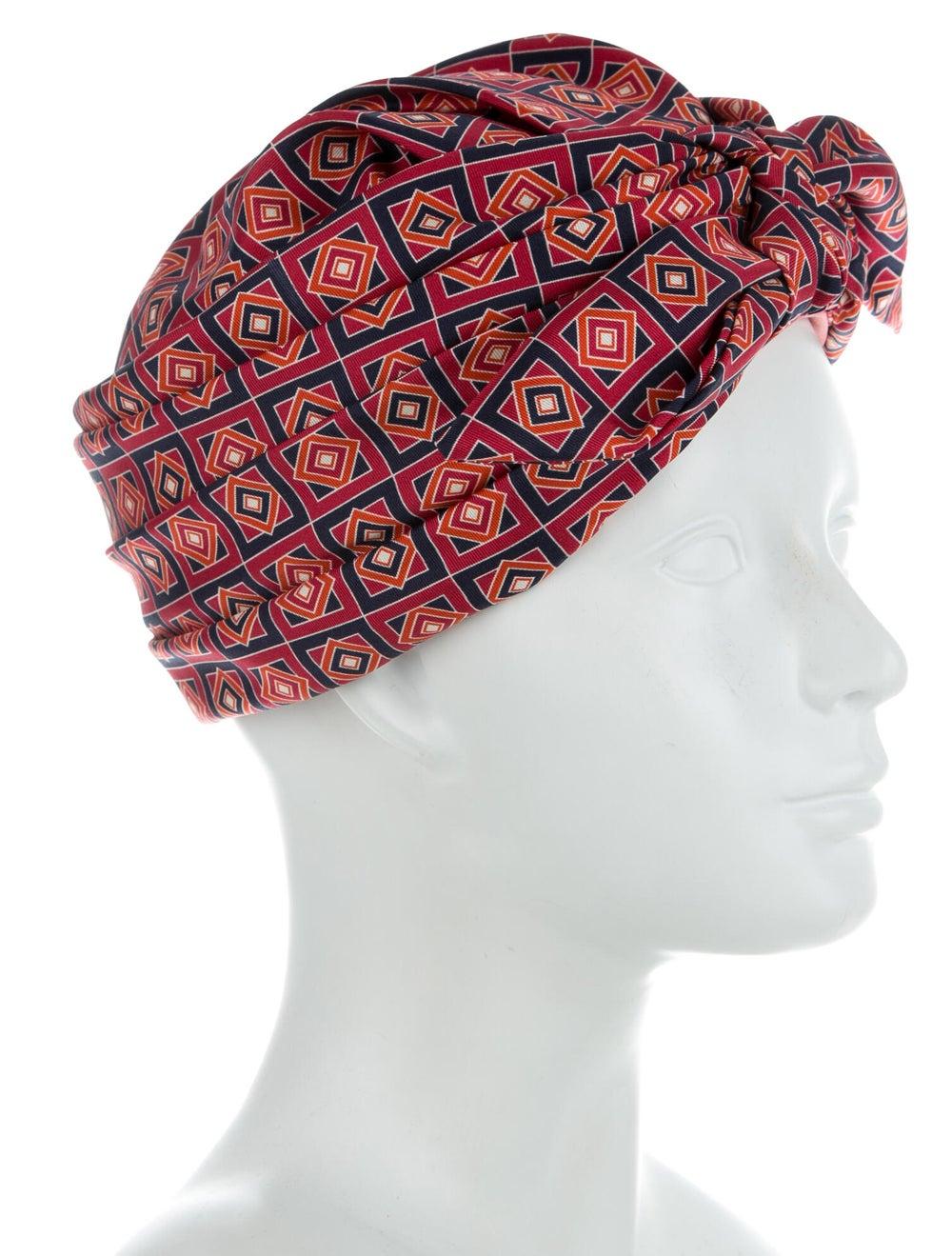 Gucci Printed Silk Turban Red - image 3