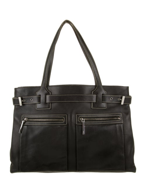 Gucci Vintage Leather Tote Black