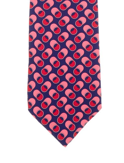 Gucci Printed Silk Tie navy