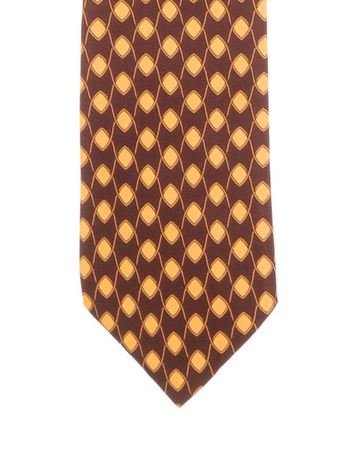 Gucci Printed Silk Tie brown