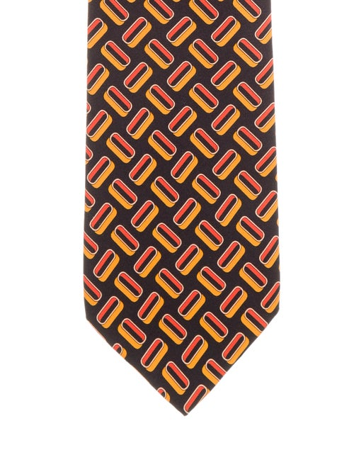 Gucci Printed Silk Tie black