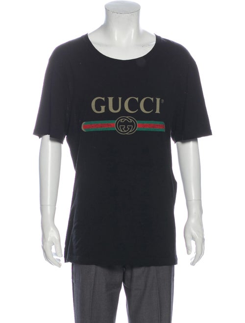 Gucci Washed Graphic Print T-Shirt Black